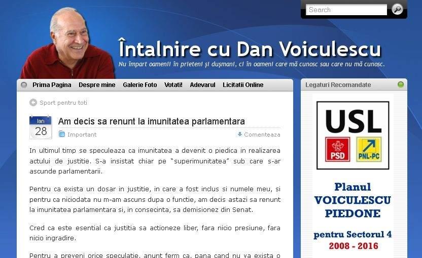 Voiculescu se crede la TNR! Spune că demisionează din Senat pentru binele justiţiei