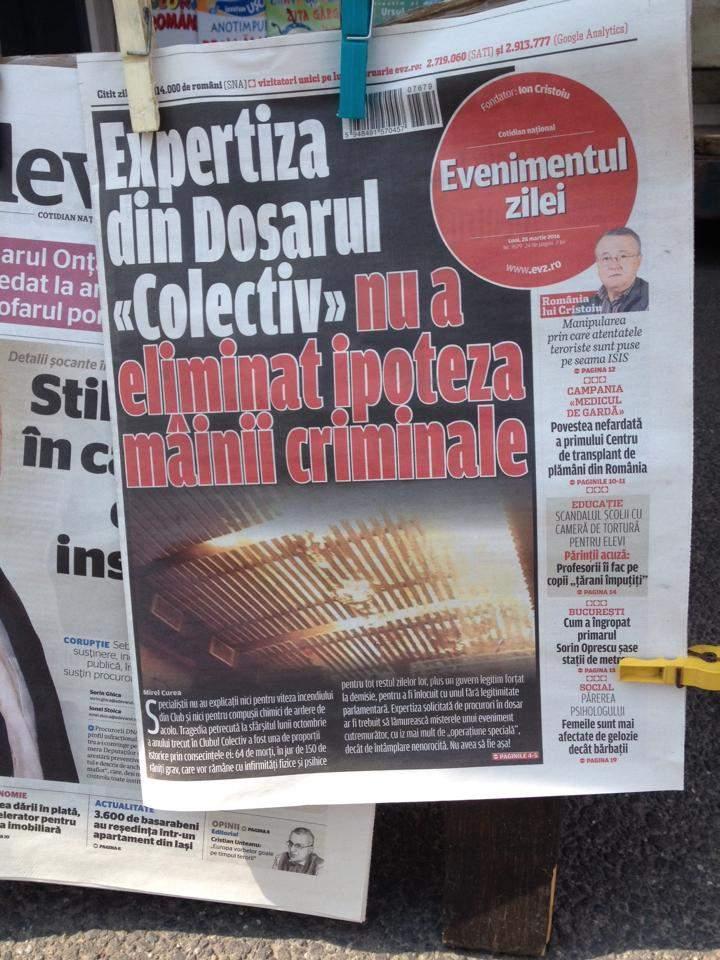 Jurnalism penibil la EVZ! Ce alte 10 ipoteze n-au fost excluse de expertiza Colectiv