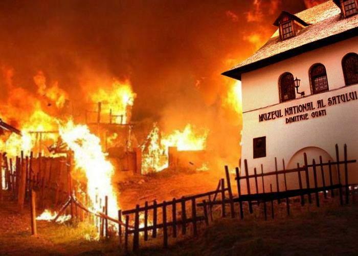 Tradiţii! Directorul Muzeului Satului a văzut delegaţia oficială a Turciei şi a incendiat casele