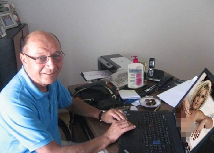 """Traian Băsescu: """"Spionii mi-au spart computerul şi mi-au furat mii de poze cu Udrea dezbrăcată"""""""
