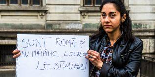 """FOTO """"Sunt romă şi nu mănânc litere. Le studiez!"""""""