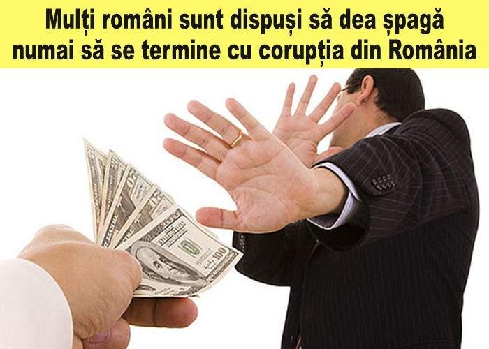 90% dintre români urăsc corupţia, dar ar accepta o mică sumă de bani ca să se facă că n-o văd
