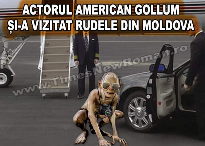 Actorul american Gollum și-a vizitat rudele din Moldova