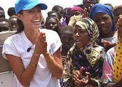 Angelina Jolie a adoptat o religie săracă, din Africa