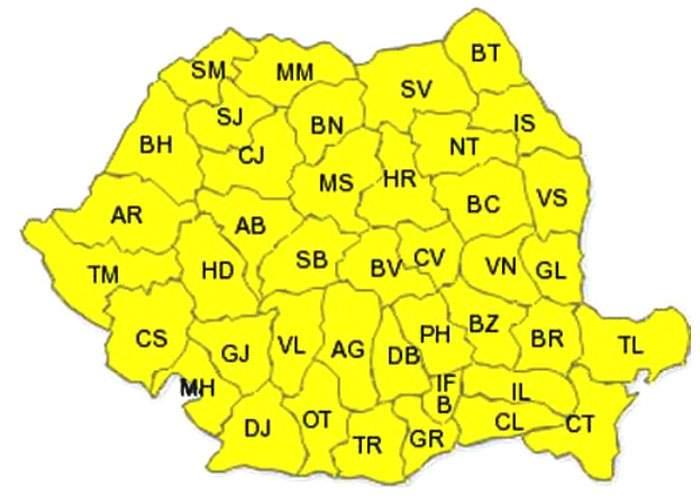 Atenţionare ANM: cod galben de întuneric în toată ţara pentru următoarele 2 nopţi!