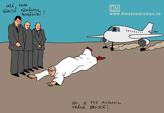 Aterizarea Papei