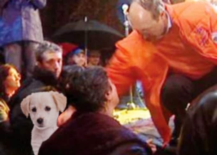 Patriciu a descoperit un film cu Băsescu lovind un căţel maidanez!