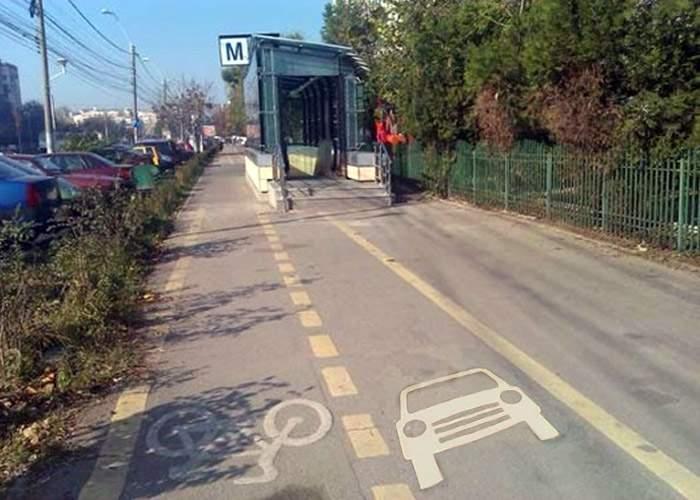 După pistele pentru biciclete, pe trotuarele din Bucureşti se vor amenaja piste pentru maşini