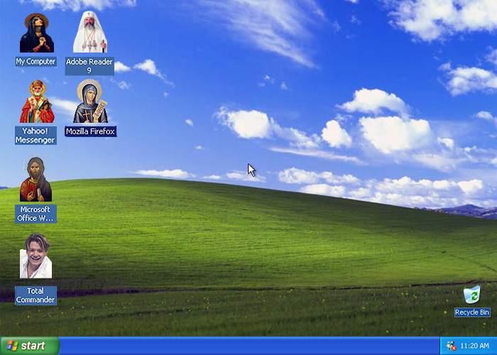 Biserica Ortodoxă vinde iconiţe sfinţite pentru desktop!