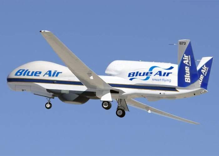 Blue Air cumpără drone ca să nu mai plătească salariile piloţilor şi stewardeselor