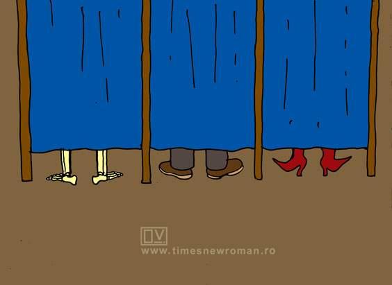Cabine de vot în Teleorman