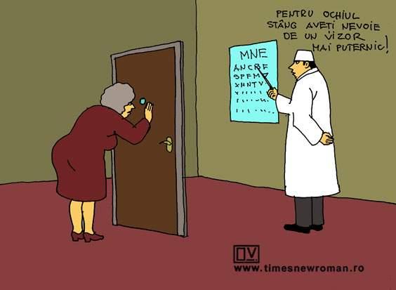 Cu ușa la oftalmolog