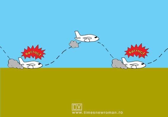 Cum aterizează un Boeing