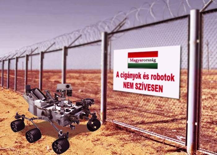 Robotul Curiosity nu mai poate înainta din cauza unui gard ridicat de Guvernul Ungariei pe Marte