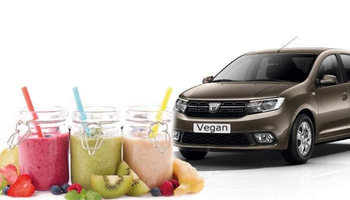 S-a lansat noua Dacia Vegan, prima maşină care merge cu smoothie-uri şi se laudă cu asta peste tot