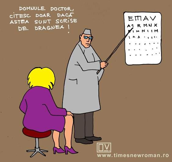 Dăncilă la oftalmolog