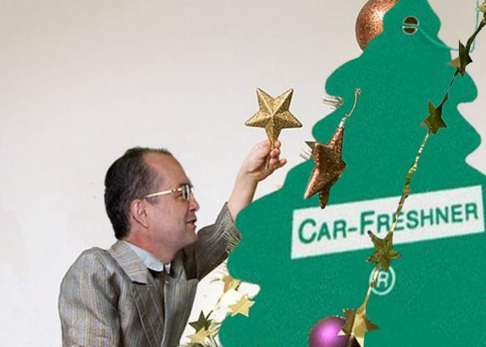 De Crăciun, Emil Boc a îmbodobit un brăduţ odorizant de maşină