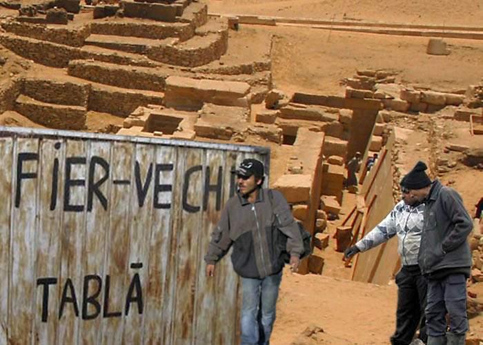 Descoperire arheologică senzaţională din Epoca Fierului, furată şi dezmembrată de ţigani