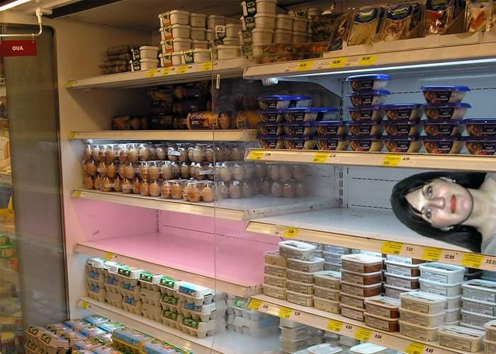 Inspectorii OPC au descoperit-o pe Elodia în congelatorul unui supermarket bucureştean