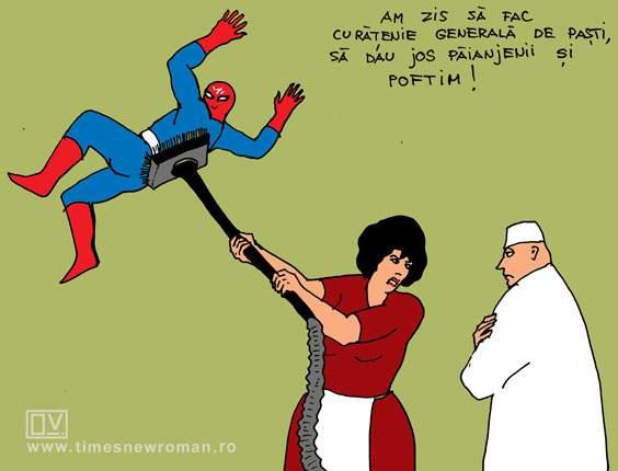 Femeia anti-păianjen