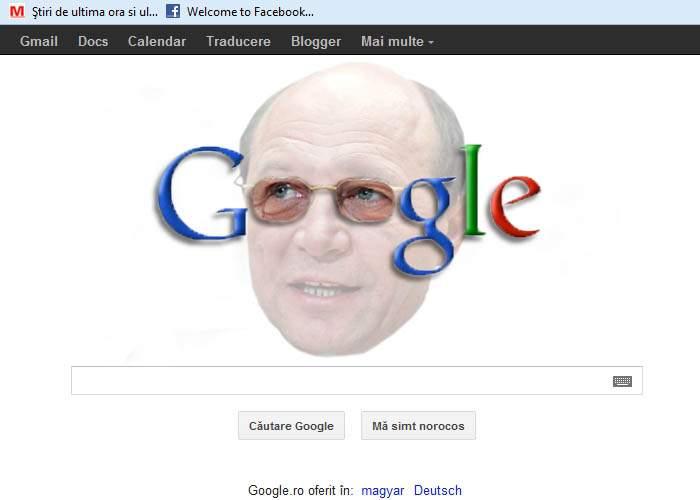 După B1 TV, și Google îl omagiază astăzi pe Traian Băsescu