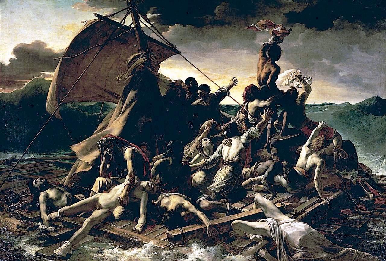 Infama istorie a romantismului (XII): canibali duşi cu Pluta Meduzei