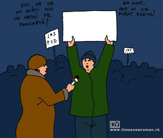 Hoţie la proteste