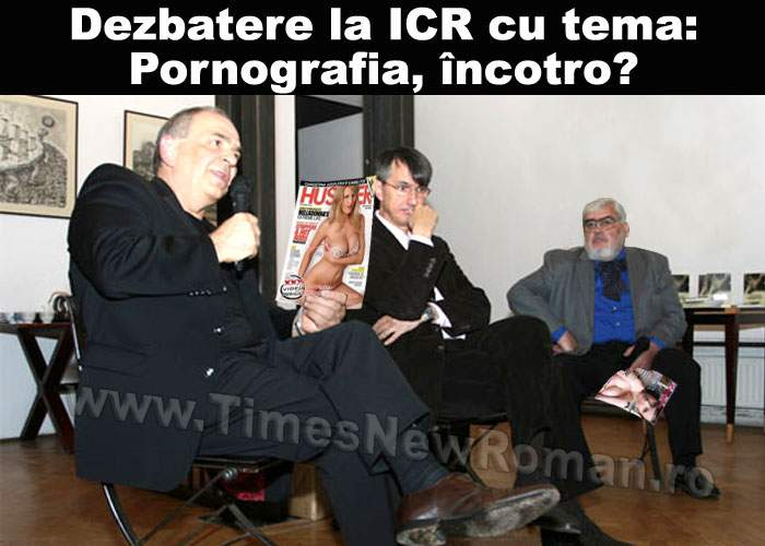 "Dezbatere la ICR cu tema ""Criza modelelor în pornografie"""