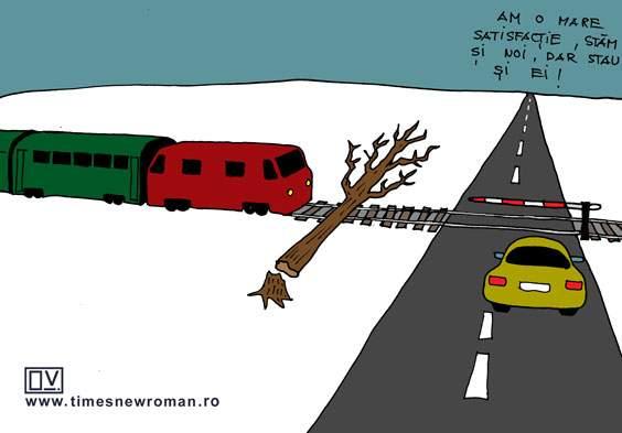 Invidie la nivel cu calea ferată