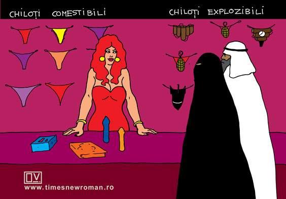 Jihadiștii la sex shop