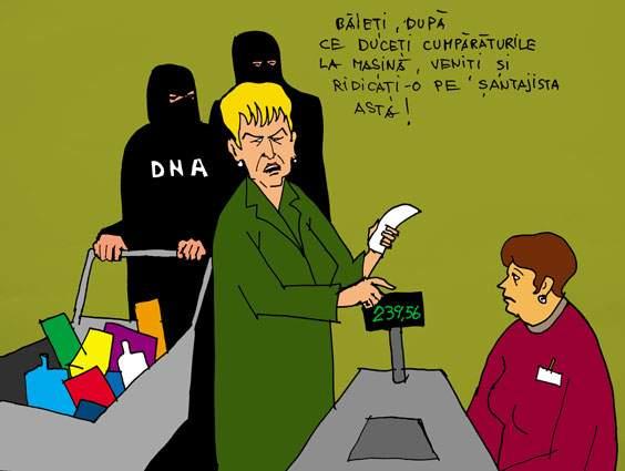 Livia Stanciu la hypermarket