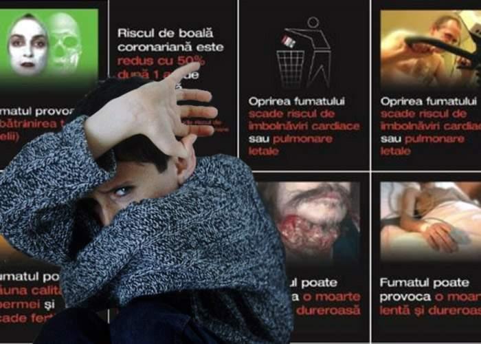 Studiu: Mesajele şi imaginile de pe pachetele de ţigări afectează sănătatea nefumătorilor!