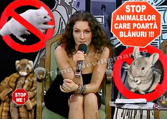 Mihaela Rădulescu luptă împotriva animalelor care poartă blană naturală