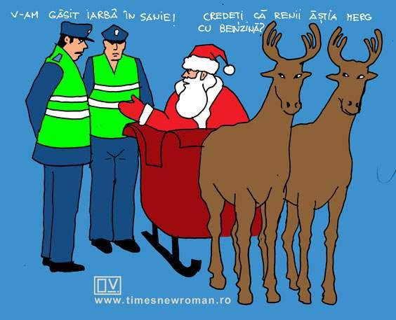 Moș Crăciun la razie