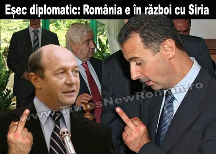 Negocierile cu președintele sirian Bashar al-Assad au eșuat. Suntem în război cu Siria!