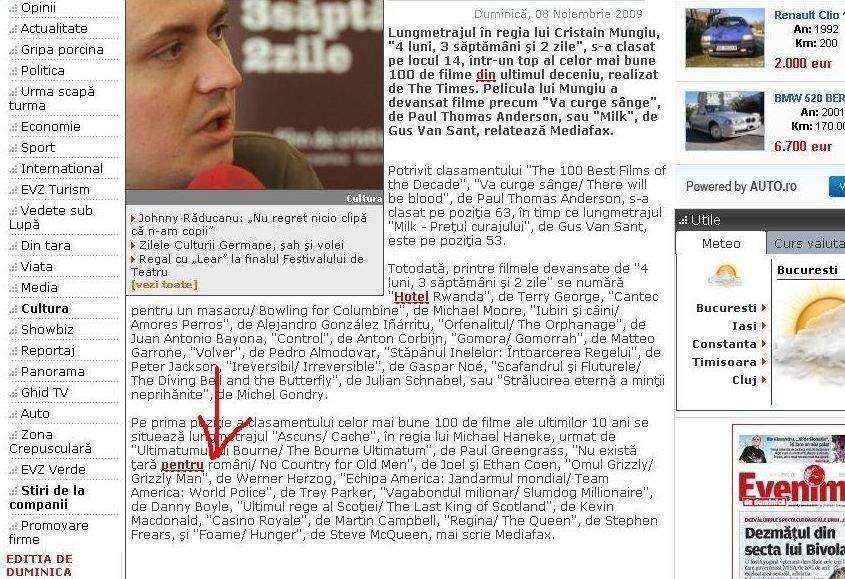 Potrivit Evz şi Mediafax, nu există ţară pentru români