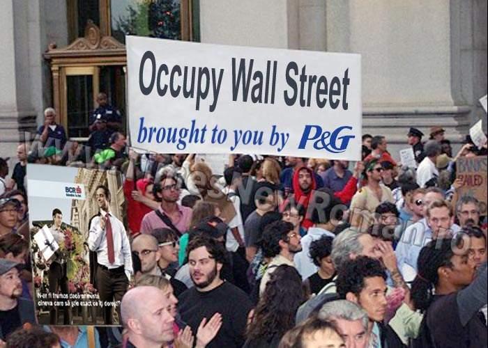 Mișcarea Occupy Wall Street crește pentru că are ca sponsori firme importante