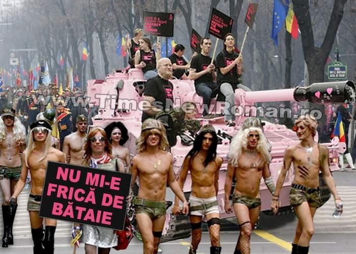 Ministerul Apărării a organizat o paradă gay pe sub Arcul de Triumf, de Ziua Naţională