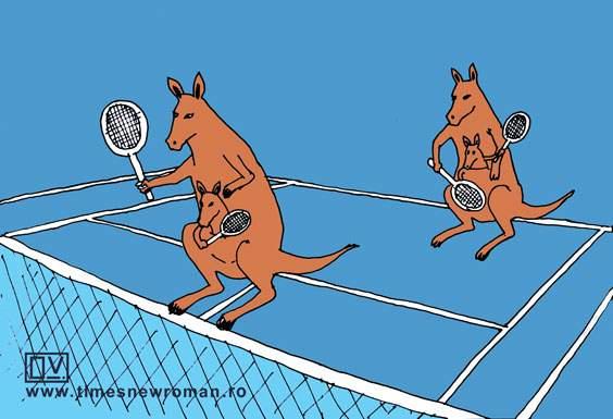 Partida de dublu la Australian Open