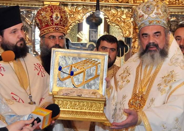 Patriarhia le-a adus credincioşilor din România o aşchie din săniuţa lui Iisus