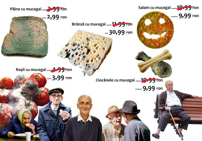 Studiu şoc: Pensionarii nu-şi mai permit nici brânză cu mucegai