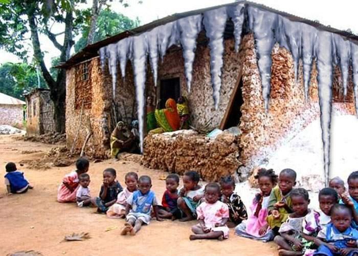 Iată poza care dovedeşte că ţurţurii africani sunt mai mari decât cei europeni!