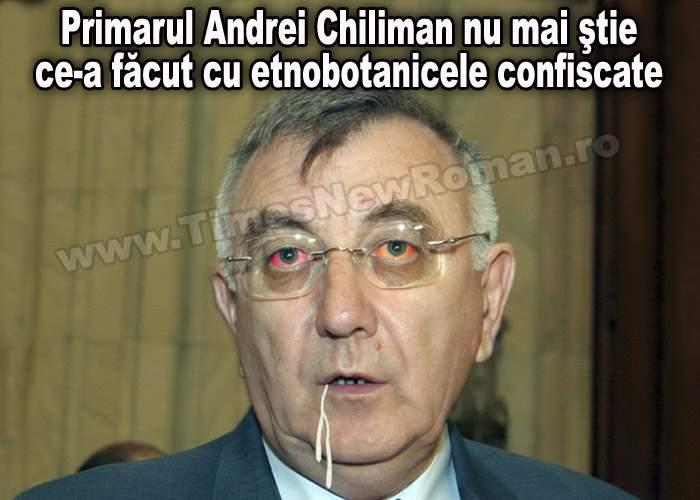 Primarul Sectorului 1, Andrei Chiliman nu mai ştie ce a făcut cu etnobotanicele confiscate
