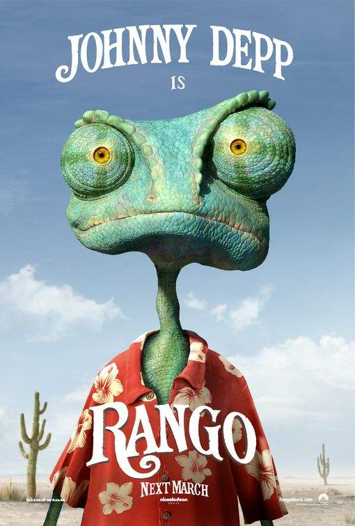 Rango – Johnny Depp, umbli cu şopârla!!!