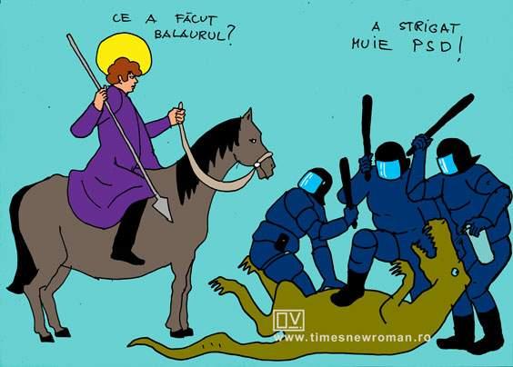 Sf. Gheorghe salvând balaurul