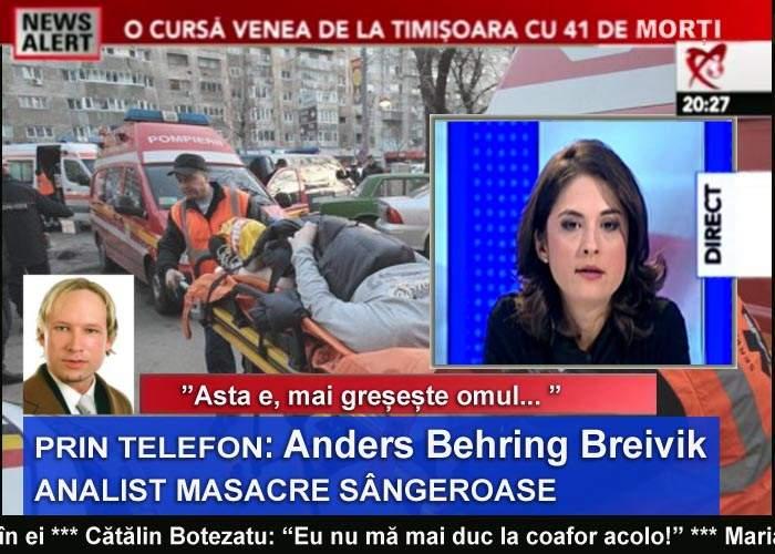 Anders Breivik a explicat la Realitatea TV masacrul de la coafor pe înțelesul tutuor