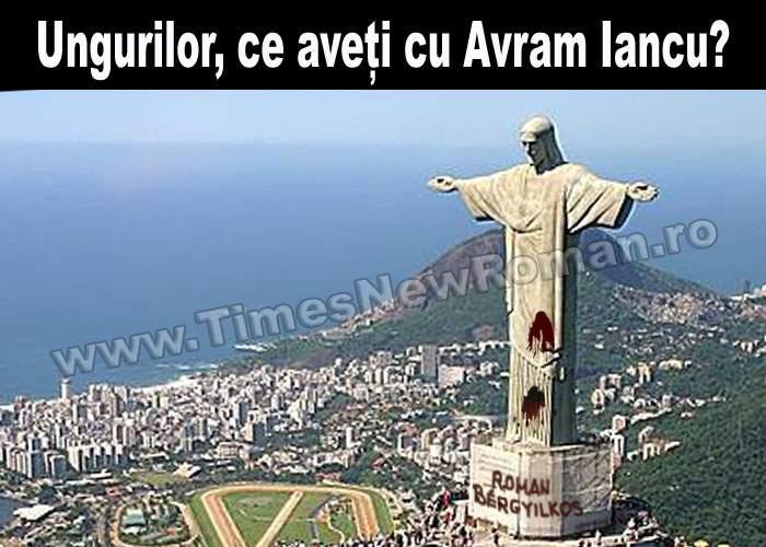 Statuia lui Avram Iancu din Rio de Janeiro a fost vandalizată de maghiari