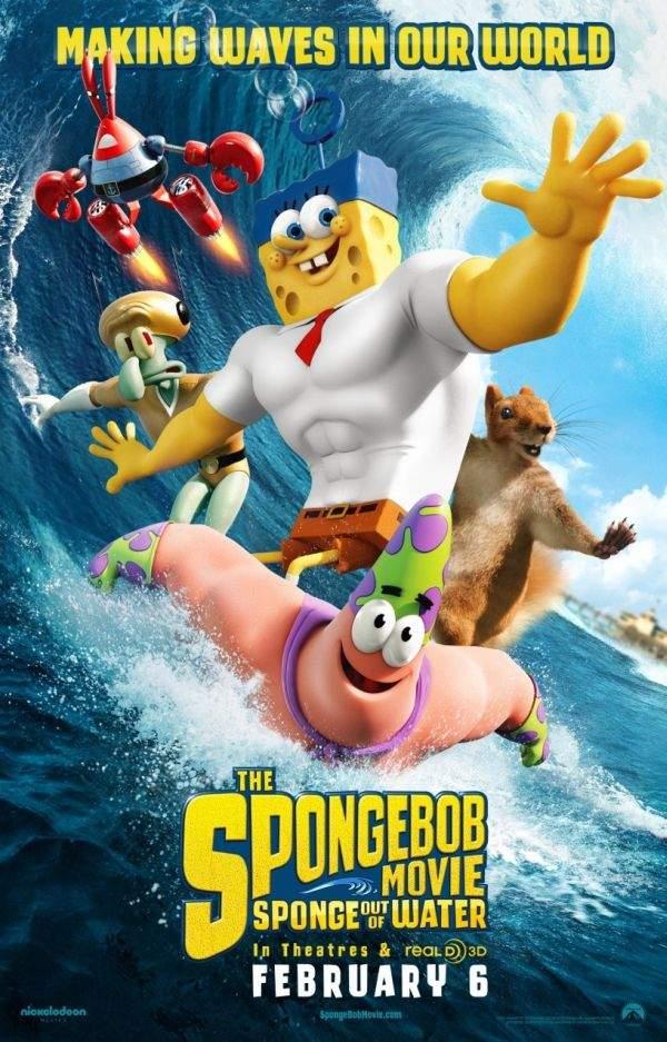 The SpongeBob Movie: SpongeBob Out of Water – Un burete, dar nu pentru spălat pe creier