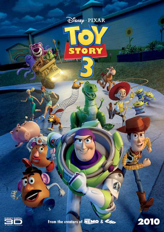 Toy Story 3 – 1. action, 2. thriller, 3. horror!