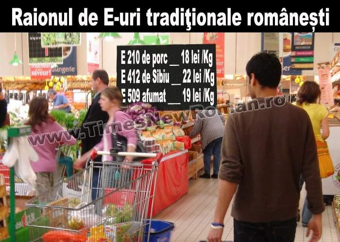 Românii cumpără pentru masa de sărbători tradiţionalele E 210 şi E 412